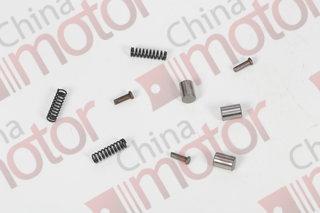 Фиксатор ступицы синхронизатора КПП YUEJIN 1041 (комплект) (Ролик 17H30-01401+Толкатель 17H-01402+пружина 17H01403)x3