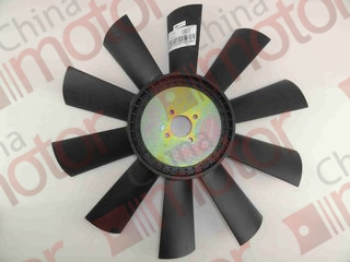 Вентилятор радиатора двигателя FOTON-1049A (пластик) T74406020 P110 (Крыльчатка вентилятора)