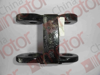 Серьга передней рессоры левая двойная FOTON-1069 (отв. под палец Д-25мм, под резьбу- 18мм