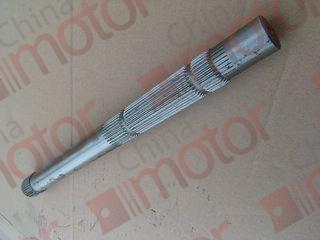 Вал вилки сцепления КПП S6-80,S6-90.S6-100, 5S-150GP, 5S-111GP   D=27/30mm, крупные шлицы (D=34mm) для рычага к штоку ПГУ,  L=420mm