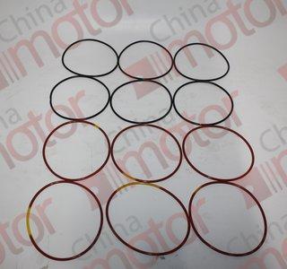"""Кольца уплотнительные гильзы цилиндра YC6M YUCHAI (к-кт 12шт, резина)  """"Оригинал"""""""